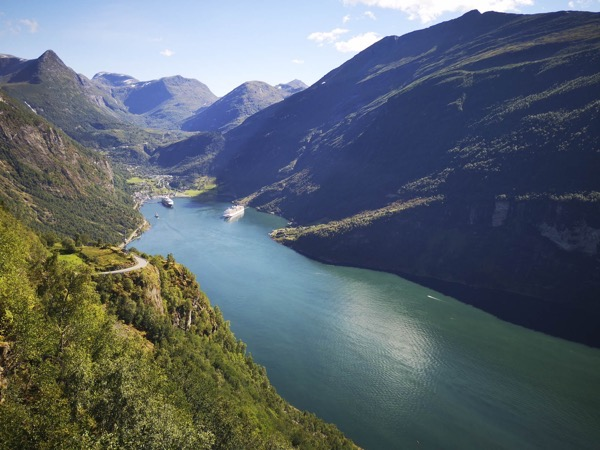 Grandiose cette année avec le soleil  Geiranger Fjord
