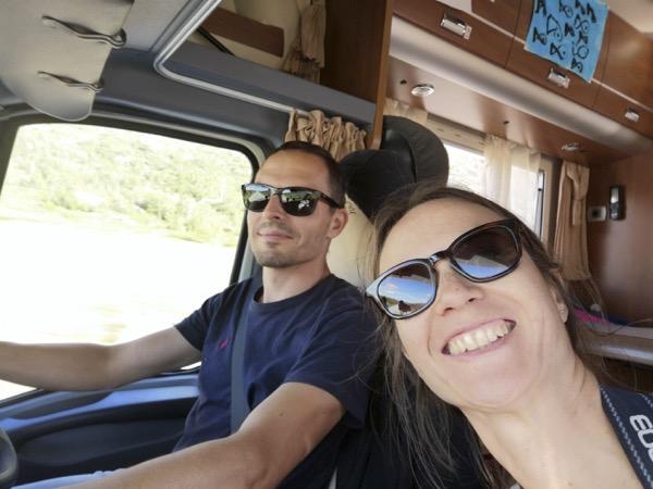 Nathalie est heureuse elle qui voulait à tout prix refaire cette fameuse route 258 magnifique